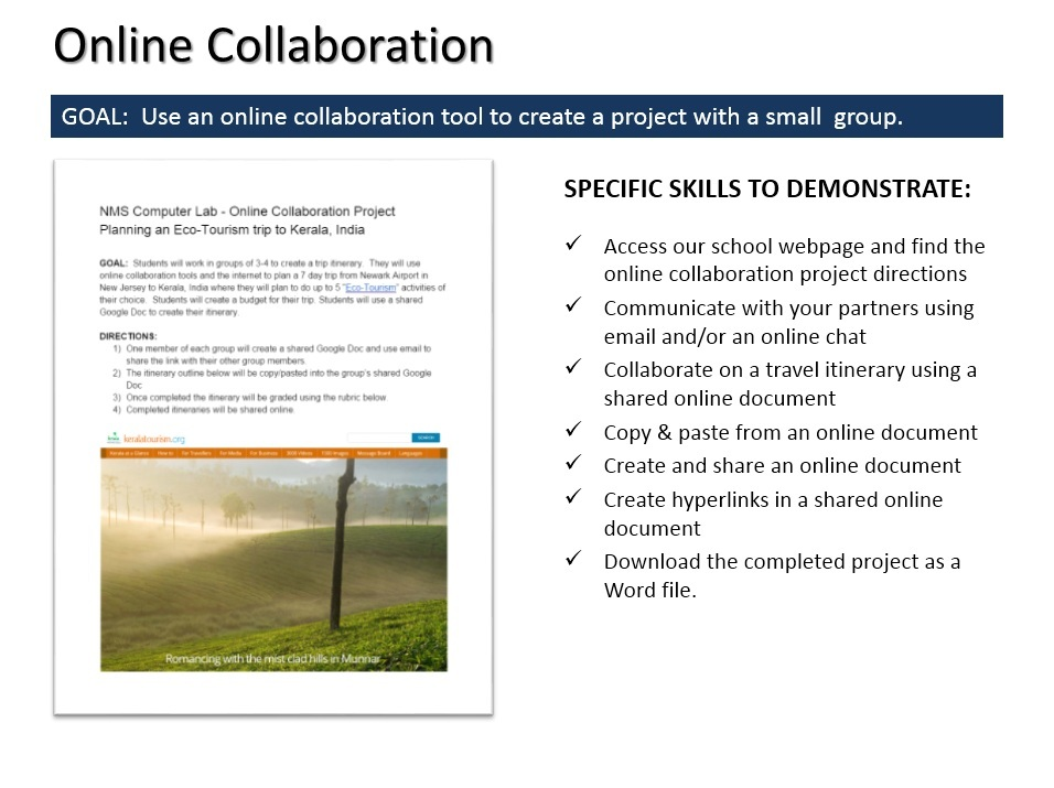 Online project collaboration
